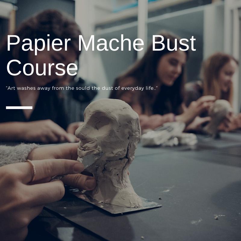Papier Mache Bust Course
